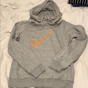 Nike hoodie with rose gold swoosh